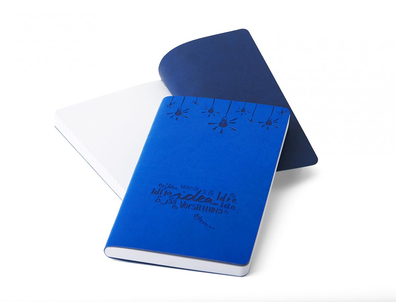 """Quaderno """"Idea"""" blu"""