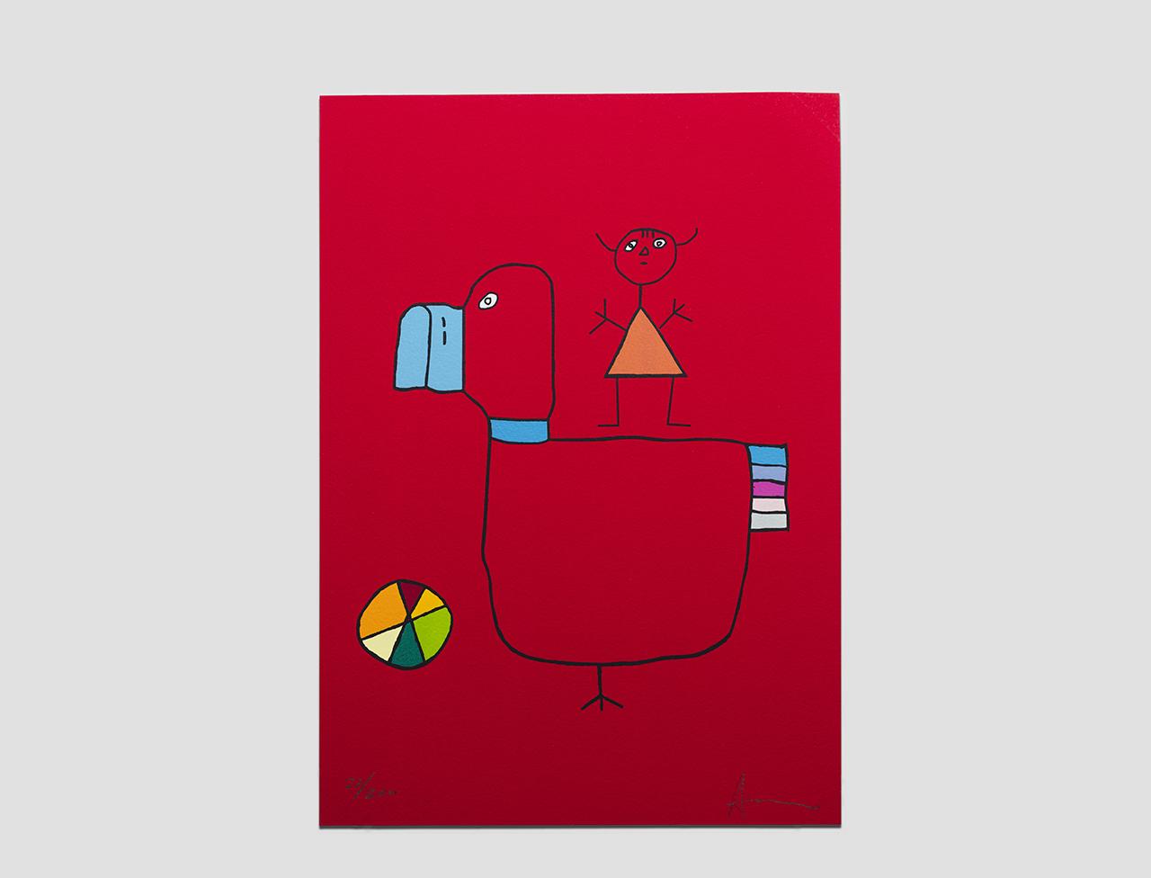 """Serigrafia """"Il bambino birichino"""" di Gianfranco Asveri"""