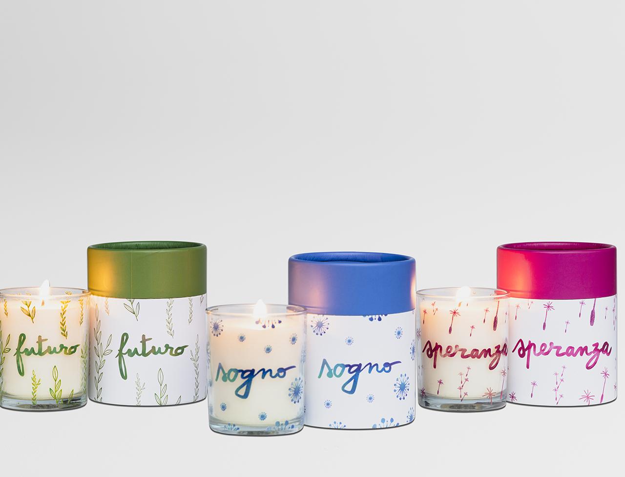 Tris candele profumate
