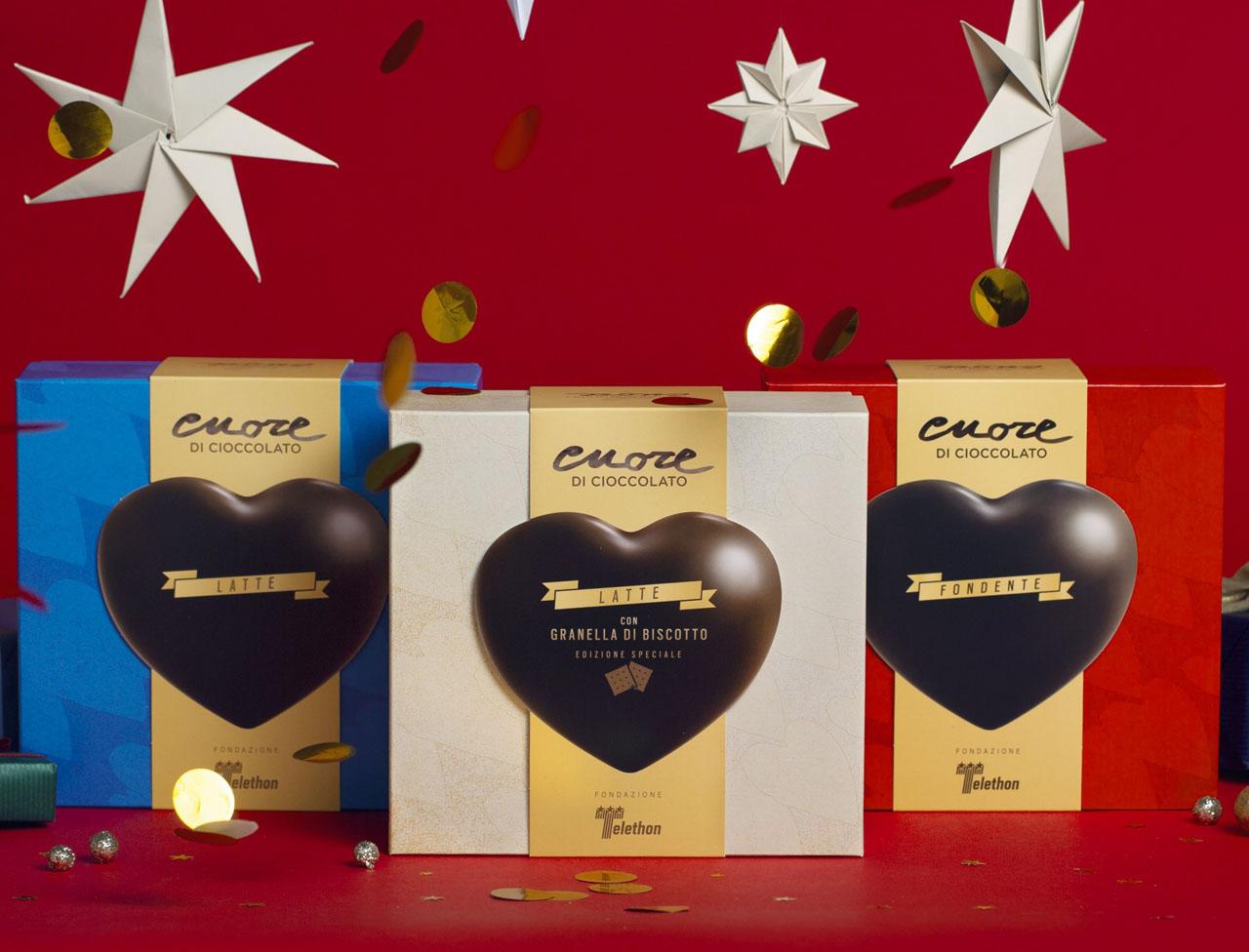 Tris Cuori di cioccolato
