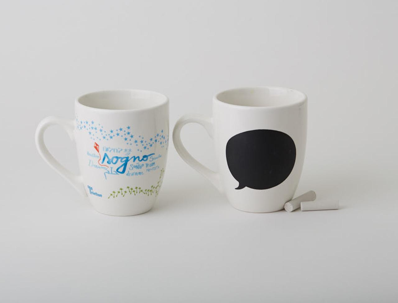 "Set mug lavagna ""Sogno"" per due"